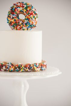 sprinkled donut cake