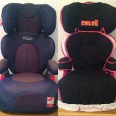 Antes y Despues // Cubierta para la silla del auto