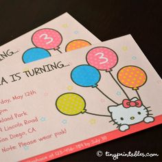 Hello Kitty birthday invites