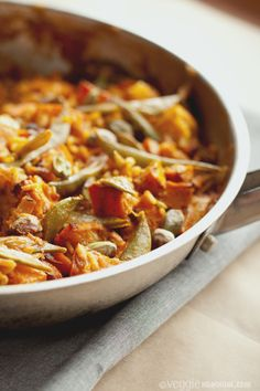 Want to eat this now!!! -- Veggie Paella w/ Saffron & Orange #vegan #vegetarian #food #recipe