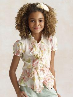 Ralph Lauren, Girls Runway: look 12 This blouse is so cute!