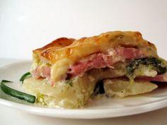 Gratin de jambon Pork Recipes, Snack Recipes, Recipies, Pork Ham, Coco, Cooking Tips, Healthy Snacks, Sandwiches, Roast