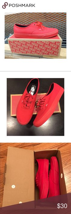 ❤️ Vans True Red Black Worn once for a photo session and in like new condition. Men's size 7/women's size 8.5. Vans True Red Black. Classics! Smoke and pet free home. Thanks for looking! Vans Shoes Sneakers