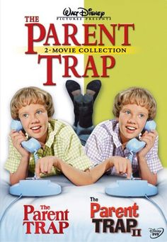 The Parent Trap Starring: Hayley Mills, Maureen O'Hara, Brian Keith and Nancy Kulp. -- The Parent Trap II Starring: Hayley Mills and Tom Skeritt Two Movies, 2 Movie, Family Movies, Love Movie, Classic Movies, Great Movies, Disney Movies, Awesome Movies, Watch Movies