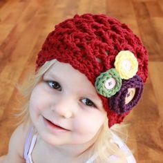 Instant Download - Crochet Pattern - Elise Hat (Baby - Adult)