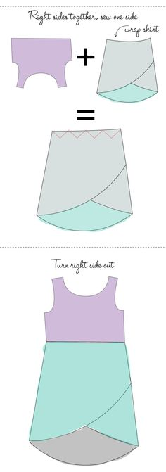 sew an easy wrap tunic.