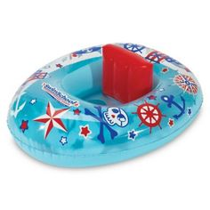 Aqua Leisure Swimschool Lil' Skipper Baby Boat Blue/red