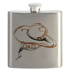 Cowboy Dad Flask on CafePress.com