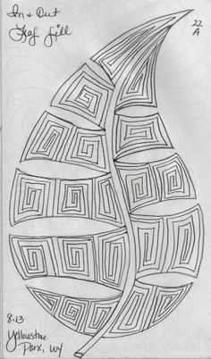 LuAnn Kessi: Sketch Book.....Leaf Designs 3 by robyn