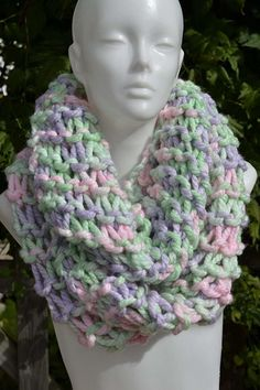 Tube scarf loop scarf loop scarf neck warmer round scarf mint green pink purple lilac pastel colorful knitted by hand – Towel Ideas 2020 Tube Scarf, Loop Scarf, Purple Lilac, Neck Scarves, Neck Warmer, Mint Green, Crochet, Blog, Knitting Scarves