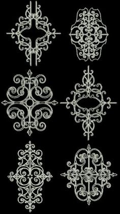 Advanced Embroidery Designs - Elegant Scrollwork Embellishment Set II