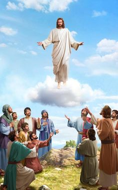 """The Scripture says, """"this same Jesus … shall so come in like manner as you have seen him go into heaven."""" Without descending with the cloud, isn't He the Lord Jesus? Images Du Christ, Pictures Of Jesus Christ, Religious Pictures, Bible Pictures, God Pictures, Jesus Artwork, Jesus Christ Painting, What Is The Rapture, Miséricorde Divine"""