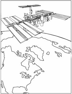 iis international space station coloring page
