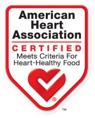 American Heart Association - Certified Meets Criteria for Heart-Healthy Food