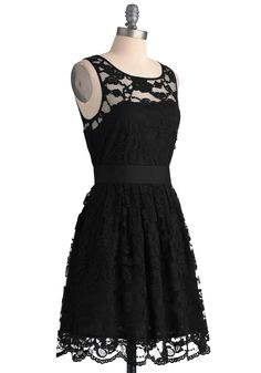When the Night Comes Dress in Noir, #ModCloth