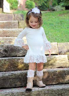 Girls fall layering tunic/shirt lace shirt by MarmaladeClothing