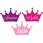 Princess Crown with Name Insert Wall Sticker Decal