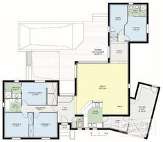 Plan Rez-de-chaussée - maison - Maison fonctionnelle 1