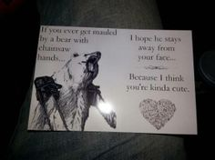 Wish we got cards like this :P This is cruel, but I find this SO cute :*