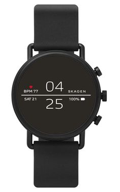 online shopping for Skagen Connected Falster 2 Stainless Steel Silicone Touchscreen Smartwatch, Color: Black (Model: from top store. See new offer for Skagen Connected Falster 2 Stainless Steel Silicone Touchscreen Smartwatch, Color: Black (Model: Smartwatch, Fitness Tracker, Sport Fitness, Google Play, Android 4.4, Android Phones, Skagen Watches, Rolex Watches, Gps Watches