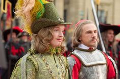 Freddie Fox as King Louis and Christoph Waltz as Cardinal Richelieu in THE THREE MUSKETEERS (2011)