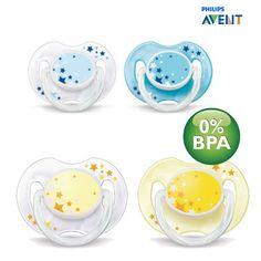 Beruhigungssauger helfen Deinem Baby einfacher in den Schlaf zu finden >> Philips Avent SCF176/18 - 2 Stück Beruhigungssauger Schnuller für die Nacht 0-6 Monate, BPA-frei