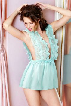 Silk Chiffon Ruffle Babydoll only from the Victoria's Secret Designer Collection.