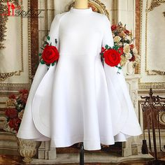 Cheap white cocktail dress, Buy Quality cocktail dresses directly from China cocktail white dress Suppliers: New Arrival High Neck Long Sleeves White Cocktail Dresses 2017 with Flowers Mini Short Beautiful Black Party Dress Formal Gowns Dress Vestidos, Frack, Girl Fashion, Fashion Outfits, Dress Fashion, Fashion News, Latest African Fashion Dresses, Designs For Dresses, Classy Dress