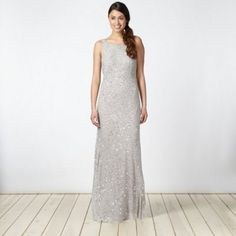 Debut Silver chevron embellished maxi dress- debenhams. Just bought this for Christmas ball