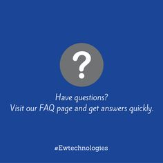 FAQ's on #watersofteners, #waterfilters, #watercoolers and much more. www.ewtwater.com/faq