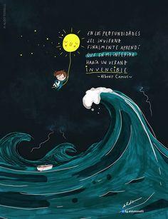 """Aldo Tonelli / Ilustraciones: """"Invencible"""" - Ilustración con frase"""