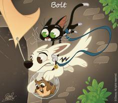 50 Chibis Disney : Bolt by *princekido