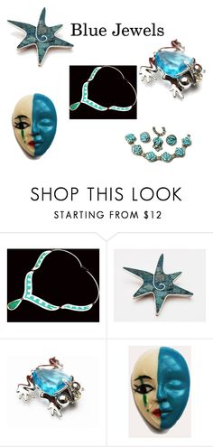 """Blue Jewels"" by cindydcooley ❤ liked on Polyvore featuring vintage"