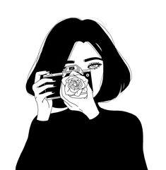 64 Ideas Dark Art Wallpaper Black White For 2019 Art And Illustration, Black And White Illustration, Illustrations, Drawing Sketches, Art Drawings, Drawing Art, Kalender Design, Art Du Croquis, Anime Art Girl