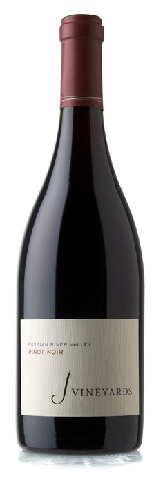 The J Vineyards Pinot Noir is a lush ruby-red wine that vibrantly showcases its cool-climate Russian River Valley pedigree. Aromas of rich chocolate and wild blackberry fill the glass.  #wine #rrv #pinotnoir #sonomacounty