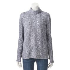 Juniors' Cloud Chaser High-Low Cowlneck Top,
