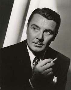 """George Hurrell - George Brent from """"`Til We Meet Again"""" Old Hollywood Style, Old Hollywood Movies, Hollywood Actor, Golden Age Of Hollywood, Hollywood Celebrities, Vintage Hollywood, Classic Hollywood, Hollywood Pictures, Hollywood Icons"""