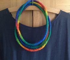 """Filzketten - Filzkette """"Farbenspiel"""" - ein Designerstück von Rita-Hella bei DaWanda"""