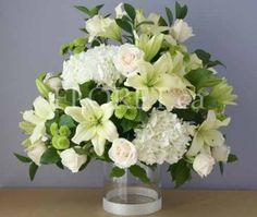 white wedding flower arrangements 5 | Wedding Flower Ideas - Wedding flowers, arrangements, bouquets, designs, and pictures