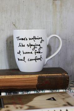 Jane Austen quote mugs. I love these!