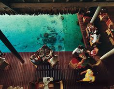 Restaurant Linareva, on Moorea, how awesome would this be, having dinner while looking into the ocean
