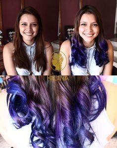ombre effect purple  color