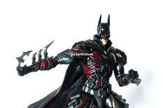 Play Arts Kai continues their fantastic DC Comics line with their latest release, another beautiful Variant, the Red Batman! This marvelous figure stands over tall, a massive figures with great. Red Batman, Superman, Dc Characters, Aquaman, Kai, Dc Comics, Wonder Woman, Superhero, Beautiful