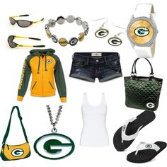 Green Bay Packers, created by teriessa-culpepper on Polyvore