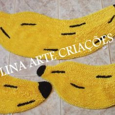 Jogo De Passadeira Banana frufru Frou Frou, Crochet, Pattern, Banana, Home Decor, Accent Rugs, Colorful Rugs, Homemade Rugs, Handmade Crafts