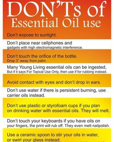 Young Living Essential Oils - Don'ts of Essential Oil Use. Are you interested in learning more about Young Living Essential Oils? Do you want to join me and become a Lemon Dropper? Doterra Essential Oils, Natural Essential Oils, Essential Oil Blends, Yl Oils, Natural Oils, Lemongrass Essential Oil Uses, Frankincense Essential Oil Uses, Essential Oils For Headaches, Clove Essential Oil