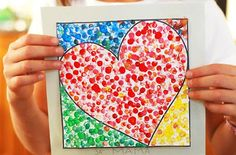 Trendy Pointillism Art Projects For Kids Valentines Day Ideas Kinder Valentines, Valentines Day Activities, Valentines For Kids, Valentine Day Crafts, Valentine Ideas, Kid Activities, Kids Crafts, Arts And Crafts, Kindergarten Art