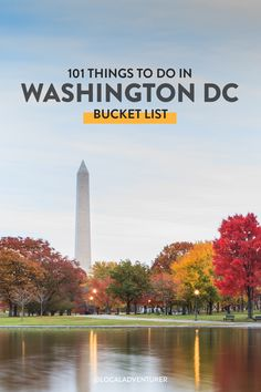 Looking for cool new things to do in DC? Don't miss our ultimate Washington DC bucket list for both visitors and locals who love to explore their own backyard // Local Adventurer #dc #washingtondc #localadventurer #usa #visittheusa #mydccool #dctogether