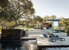Architettura e paesaggio: Oak Pass House a Beverly Hills, studio Walker Workshop