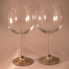 "Items similar to Mosaic Wine Glasses ""SOLD"" on Etsy"